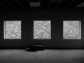 windows, window view, surrealism, black and white, photo