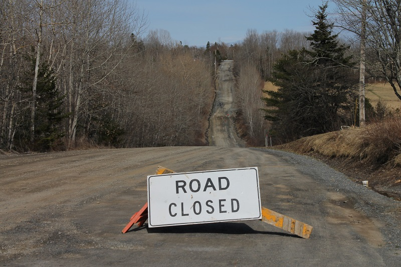 Road Closed, South Rawdon, NS