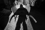 wheelbarrow, shadow, self portrait, light, barn, shadow selfie, Newport, Nova Scotia,