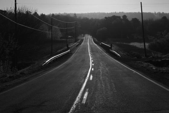 black and white, social landscape, Route 14, Greenfield, Nova Scotia, photo, landscape,