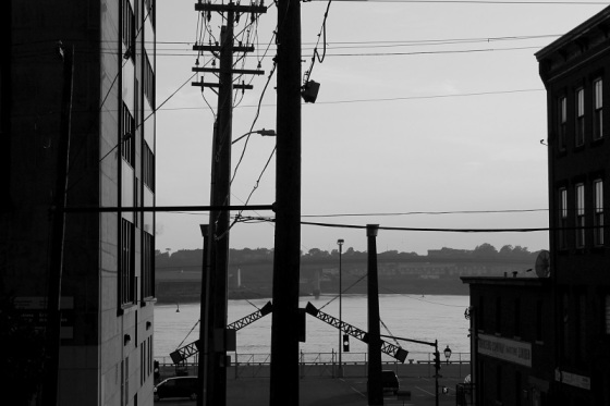 black and white, Saint John, New brunswick, photo, waterfront, silhouette,