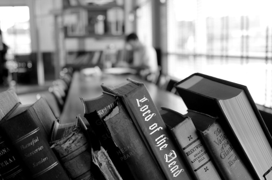 Black and white, books, Lord Of the Dead, Jerry Garcia, photo,