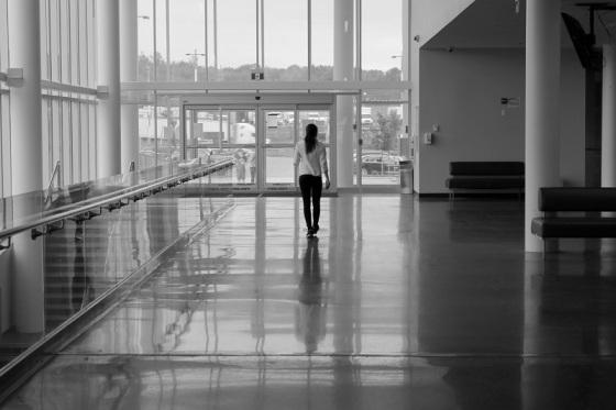 plack and white, photo, Truro, Nova Scotia, reflection