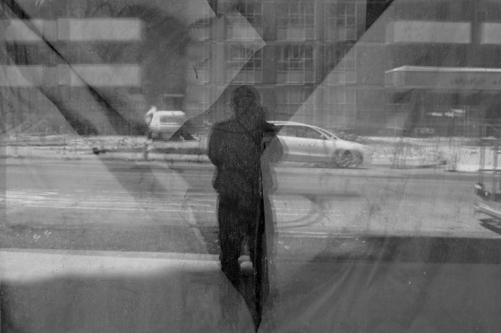 black and white, photo, selfie, self portrait, reflection, Halifax,