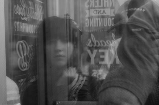 black and white, portrait, photo,