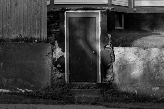 black and white, photo, door,