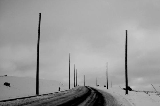 black and white, social landscape, winter, bleak,