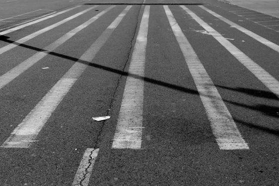 black and white, photo, crosswalk,