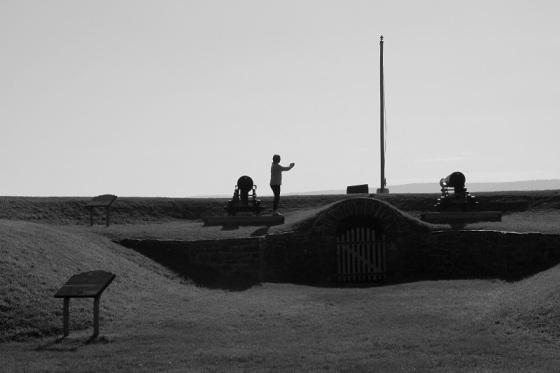 photo, black and white, social landscape, photographer, Fort Anne, Annapolis Royal, Nova Scotia,