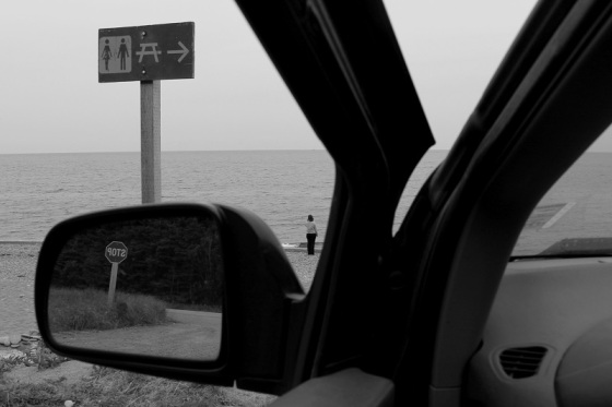 black and white, photo, reflections, mirror, mindscape