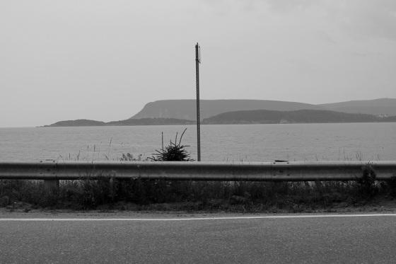 black and white, photo, landscape, Cabot Trail, Ingonish,