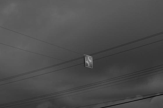 black and white, photo, sign, social landscape,