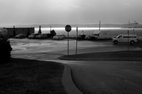 black and white, photo, social landscape, Dartmouth, Nova Scotia,