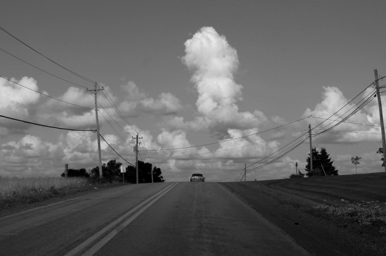 black and white, photo, clouds, Wentworth Road,