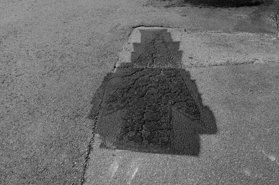 black and white, abstract, pavement, arrow,