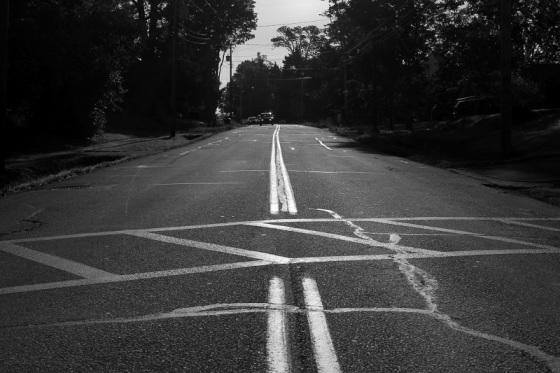 black and white, photo, crosswalk, social landscape,