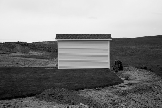 black and white, photo, garden shed, social landscape,