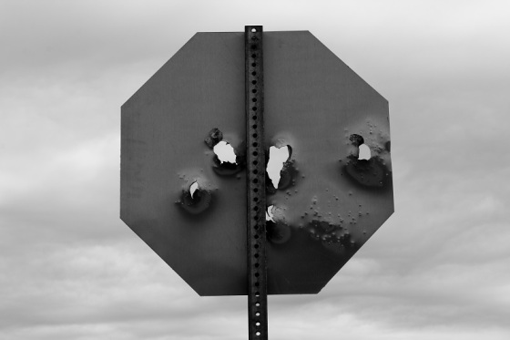 black and white, photo, stop sign, social landscape,