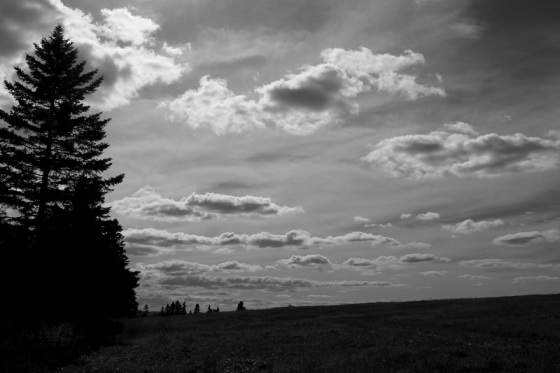 black and white, photo, landscape, clouds, September,