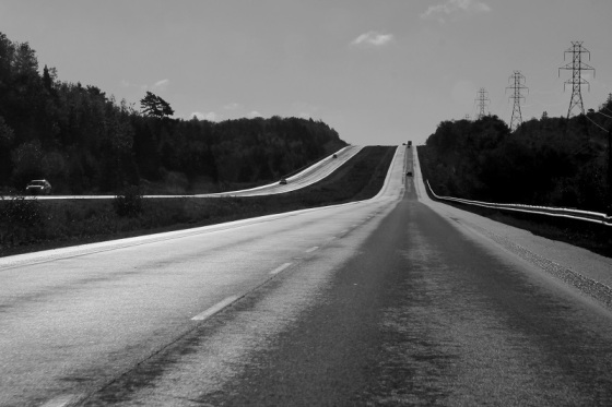 black and white, highway 101, Nova Scotia, photo, social landscape,