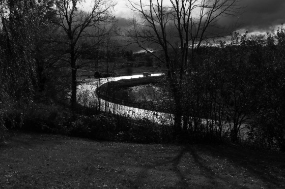 black and white, photo, light, Route 14, Nova Scotia,