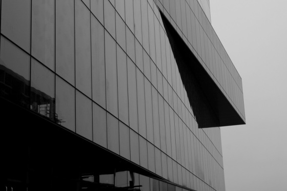 black and white, photo, architecture, Halifax Central Library, ,