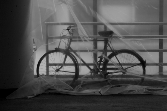 black and white, photo, bicycle, plastic,