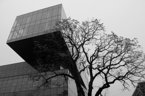 black and white, photo, architecture, Halifax Central Library,