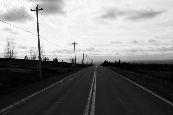 Black and white, photo, road,
