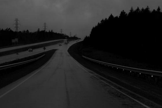 black and white, photo, Highway 101,