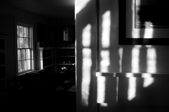 black and white, photo, light, interior,