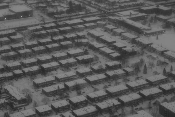 black and white, photo, aerial view, Toronto,