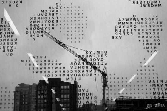 black and white, photo, Halifax Central Library, window view,