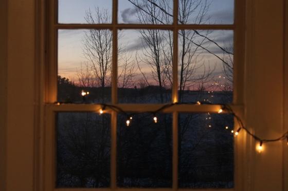 photo, colour, twilight, window view,