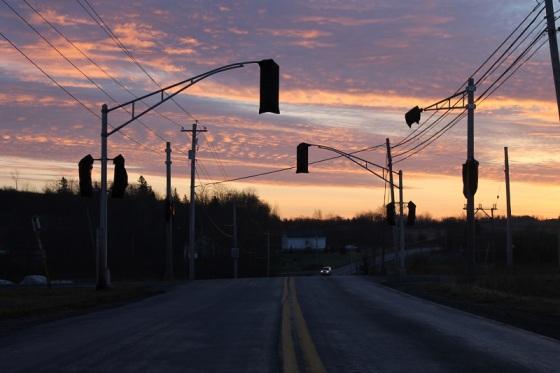 colour, sunrise, social landscape, Windsor, Wentworth Creek, Hants County, Nova Scotia,