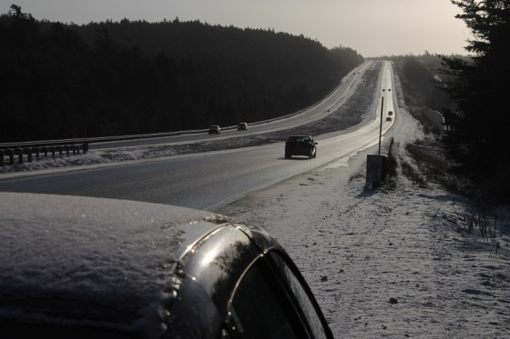 photo, colour, winter, snow, Highway 101, Nova Scotia,