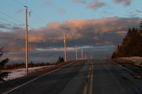 Highway 14, Spring, sunset,