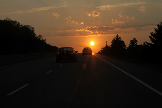 sun, summer, Highway 101, summer solstice,