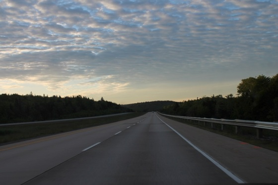 highway 101, morning, Nova Scotia
