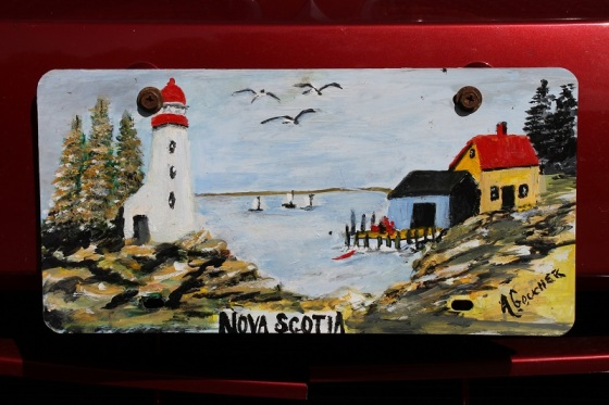 front license, Nova Scotia, folk art,