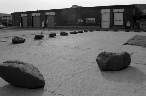 rocks, jumping,