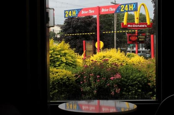 golden arches, McDonalds, garden,