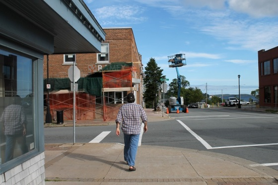 pedestrian, street, downtown, Dartmouth,