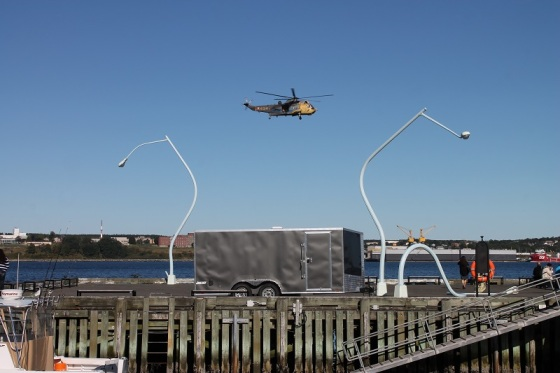 Sea King Helicopter, Halifax, waterfront,