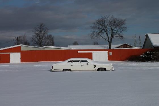 car, Lincoln, snow,