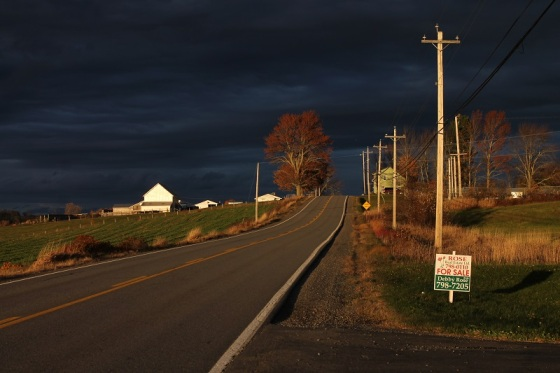Route 14, dramatic light,  Hants County,