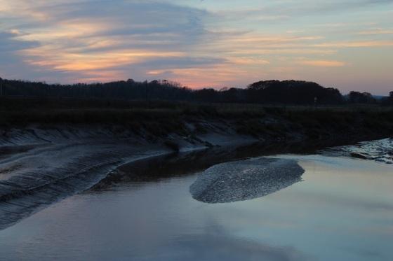 sunset, Herbert River, mud flat,