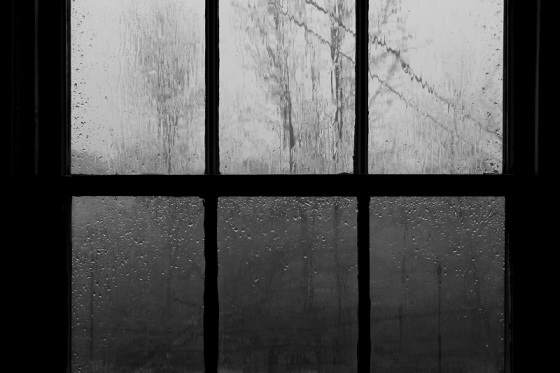 window panes, rain,
