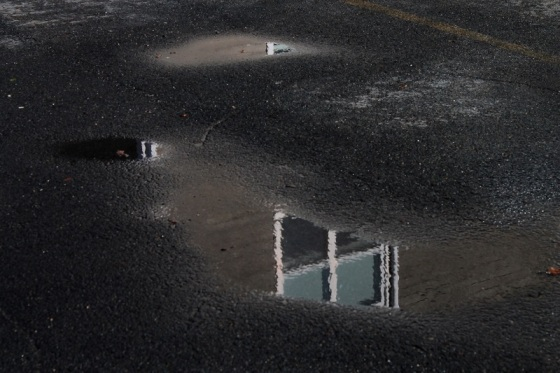 puddles, reflection, surreal,