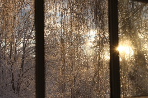 winter, window,